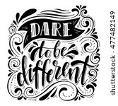 dare to be different... | Shutterstock .eps vector #477482149