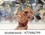 Holding Rocky Road Ice Cream...