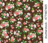 original floral textile  rose... | Shutterstock . vector #477487405