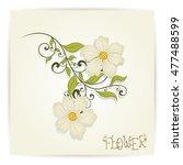 vintage floral design | Shutterstock .eps vector #477488599