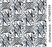 abstract grunge strokes ... | Shutterstock . vector #477489559