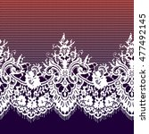 white lace seamless pattern. | Shutterstock .eps vector #477492145