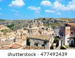 the old city of matera in italy. | Shutterstock . vector #477492439