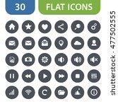 awesome flat round icons set...