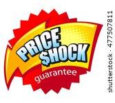 price shock and lightning.... | Shutterstock .eps vector #477507811