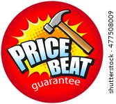 text price beat with a hammer... | Shutterstock .eps vector #477508009