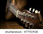 Closeup Of Old Mandolin Lying...