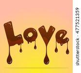 Love Chocolate Design Word....