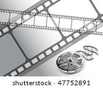 curved photographic film | Shutterstock .eps vector #47752891