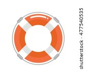 lifebuoy in a flat style.... | Shutterstock .eps vector #477540535