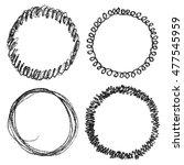 set of hand drawn scribble... | Shutterstock .eps vector #477545959