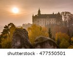 historical castle morning vista.... | Shutterstock . vector #477550501