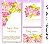 invitation with floral... | Shutterstock . vector #477552529