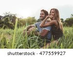 affectionate young couple... | Shutterstock . vector #477559927