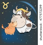vector illustration of a zodiac ... | Shutterstock .eps vector #477572299