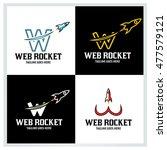 web rocket logo deign template  ... | Shutterstock .eps vector #477579121