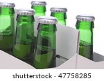 close up of a six pack of green ... | Shutterstock . vector #47758285