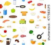breakfast food and drinks... | Shutterstock .eps vector #477583195