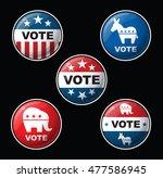 set of 5 vector budges...   Shutterstock .eps vector #477586945