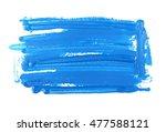 blue grunge brush strokes oil... | Shutterstock . vector #477588121
