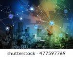 smart city landscape and... | Shutterstock . vector #477597769