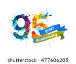 95  ninety five  years...   Shutterstock .eps vector #477606205