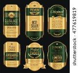 golden sale labels retro... | Shutterstock .eps vector #477619819