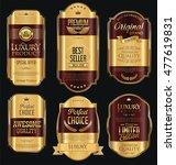 golden sale labels retro... | Shutterstock .eps vector #477619831