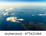 Earth Islands And Mediterranean Sea At 10.000m Altitude Above Ground