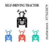 self driving tractor icons ... | Shutterstock .eps vector #477622879