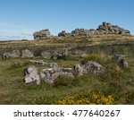 Hound Tor Ring Cairn  Stone...