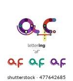 letter logo business linear...   Shutterstock .eps vector #477642685