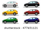 set of crossover vehicles in a... | Shutterstock .eps vector #477651121