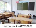 interior of an empty school... | Shutterstock . vector #477656821