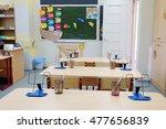 interior of an empty school... | Shutterstock . vector #477656839