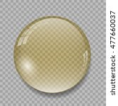 yellow crystal ball on... | Shutterstock .eps vector #477660037