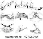 vector musical notes staff... | Shutterstock .eps vector #47766292