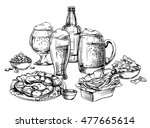 composition of different glass... | Shutterstock .eps vector #477665614