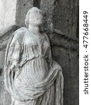 Small photo of ancient stone statue, Cathedral of isernia, Italy