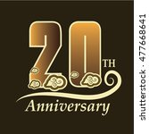 20th anniversary logo with... | Shutterstock .eps vector #477668641