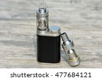 the battery and atomizer for... | Shutterstock . vector #477684121