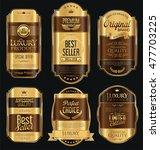 retro vintage golden frames and ... | Shutterstock .eps vector #477703225