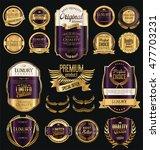 retro vintage golden frames and ... | Shutterstock .eps vector #477703231