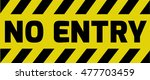 No Entry Sign Yellow With...