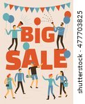 big sale banner  poster  flyer  ... | Shutterstock .eps vector #477703825
