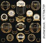 golden sale labels retro... | Shutterstock .eps vector #477706759