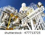 offshore construction platform... | Shutterstock . vector #477713725