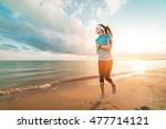 young fit cute sporty girl in... | Shutterstock . vector #477714121