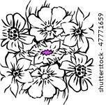 summer flowers   Shutterstock .eps vector #47771659
