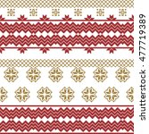 scheme for embroidery nordic... | Shutterstock .eps vector #477719389